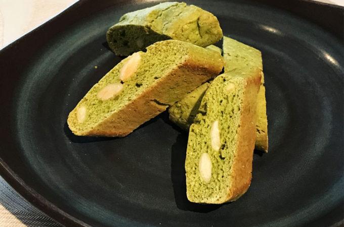 トスカーナ名物のお菓子「カントゥッチ」、抹茶版
