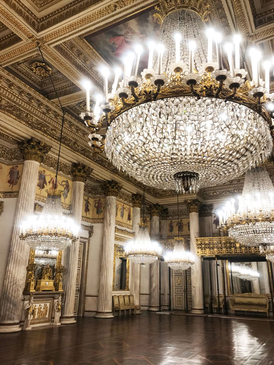 トリノの王宮内