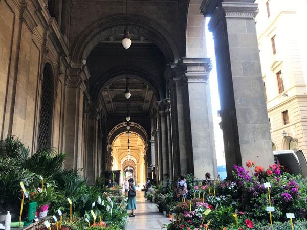 フィレンツェの花市場