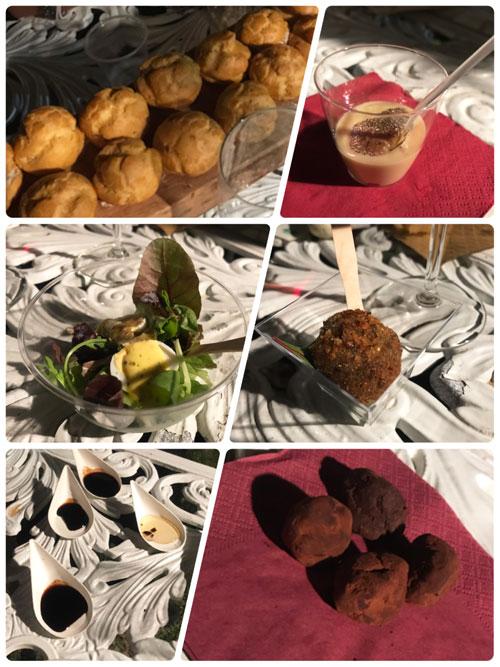 前菜とチョコレート