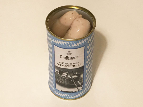 ヴァイスヴルスト缶