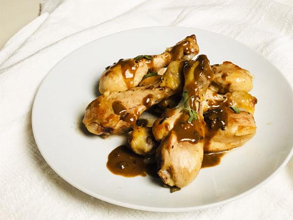 鶏肉のバルサミコソース