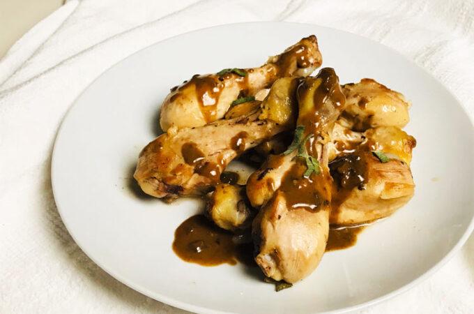 鶏肉&とろとろのバルサミコソース